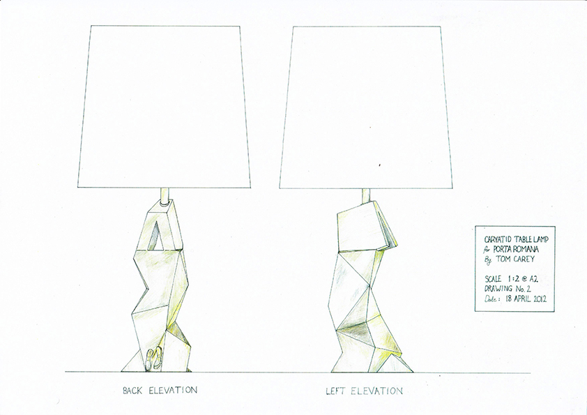 Table lamp design drawing