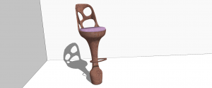 Render of barstool